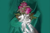 WD0005 - Pink Rose Corsage